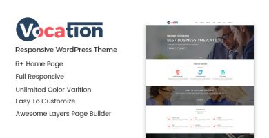 Vocation - قالب وردپرس شرکتی