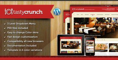 قالب Tasty Crunch - قالب وردپرس دستور غذا و رستوران