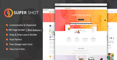 قالب SuperShot - قالب وردپرس خلاق