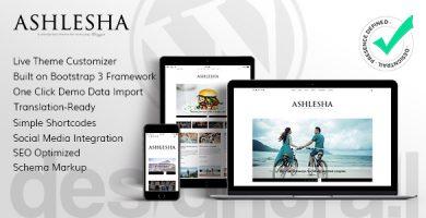 قالب Ashlesha - قالب وردپرس وبلاگ