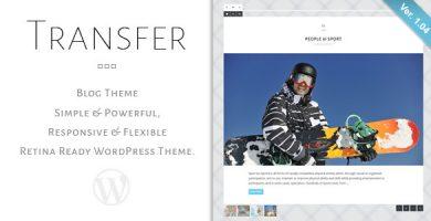 قالب Transfer - قالب وردپرس وبلاگ