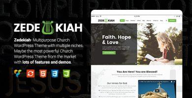 قالب Zedekiah - قالب وردپرس کلیسا و مذهب