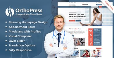قالب OrthoPress - قالب وردپرس ارتوپدی