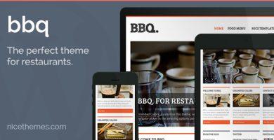 قالب BBQ - قالب وردپرس رستوران