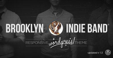 قالب Brooklyn Indie Band - قالب وردپرس ریسپانسیو