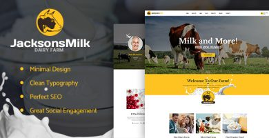 قالب Dairy Farm & Eco Products - قالب وردپرس