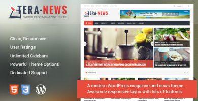 قالب TeraNews - قالب ریسپانسیو مجله برای وردپرس