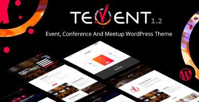 قالب Tevent - قالب وردپرس کنفرانس و رویداد