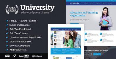 قالب University - قالب وردپرس آموزش و برگزاری دوره