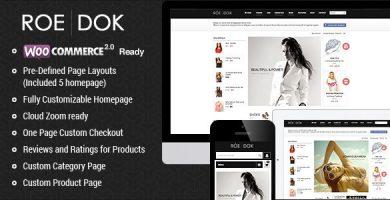 RoeDok - قالب وردپرس ووکامرس