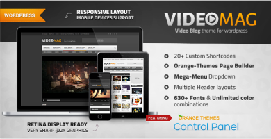قالب VideoMag - قالب وردپرس سایت ویدئو