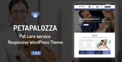 قالب Petapalozza - قالب وردپرس مراقبت از حیوان خانگی