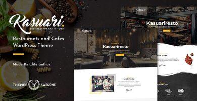 قالب Kasuari - قالب وردپرس رستوران و کافه