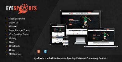 قالب Eye Sports - قالب وردپرس وسایل ورزشی