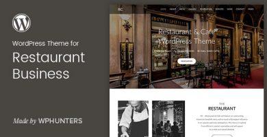 قالب Rc - قالب وردپرس تک صفحه ای رستوران و کافه