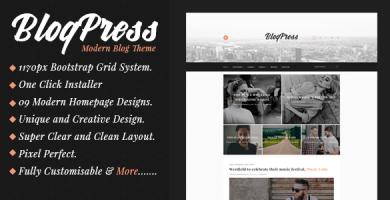 قالب BlogPress - قالب وبلاگ وردپرس