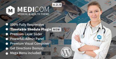 قالب Medicom - قالب وردپرس پزشکی و سلامتی