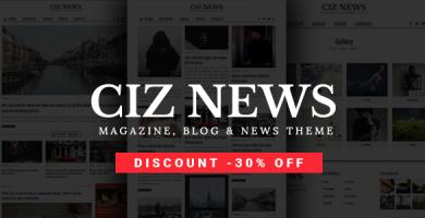 قالب Ciz News - قالب وردپرس مجله، خبر و بلاگ