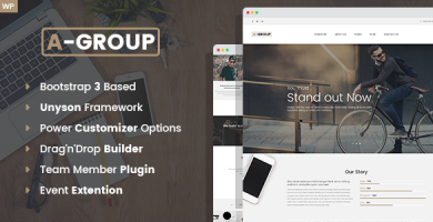 A-Group - قالب وردپرس شرکتی و کسب و کار