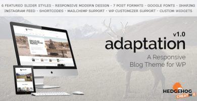 قالب Adaptation - قالب وبلاگی برای وردپرس