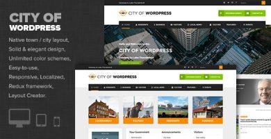 قالب City of WP - قالب وردپرس سایت مراکز دولتی و شهرداری