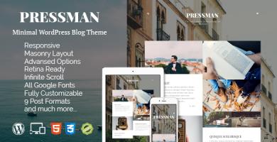 قالب Pressman - قالب وردپرس وبلاگی مینیمال