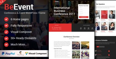 قالب BeEvent - قالب وردپرس کنفرانس و رویداد