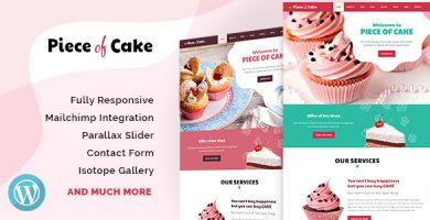 قالب Piece of Cake - قالب سایت غذا و آشپزی