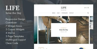 قالب Life - قالب وبلاگ وردپرس ساده