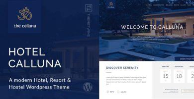 قالب Hotel Calluna - قالب وردپرس هتل و استراحتگاه