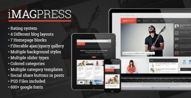 قالب iMagPress - قالب وردپرس مجله