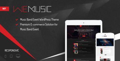 قالب WeMusic - قالب وردپرس سایت گروه موسیقی و کنسرت