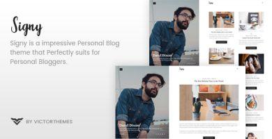قالب Signy - قالب وردپرس وبلاگ شخصی