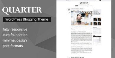 قالب Quarter - قالب وبلاگ نویسی وردپرس