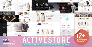 ActiveWear - قالب وردپرس فروشگاهی