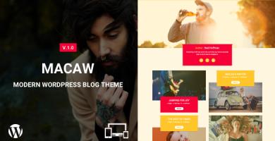 قالب Macaw - قالب وبلاگ وردپرس مدرن