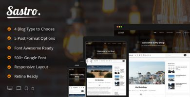 قالب Sastro - قالب وردپرس سایت شخصی
