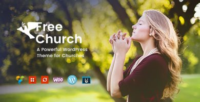 قالب Free Church - قالب وردپرس دین و امور خیریه