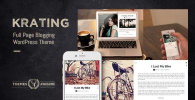 قالب Krating - قالب های وبلاگی تمام صفحه