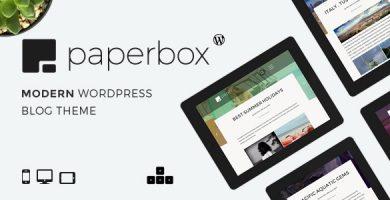قالب Paperbox - قالب وبلاگ وردپرس مدرن