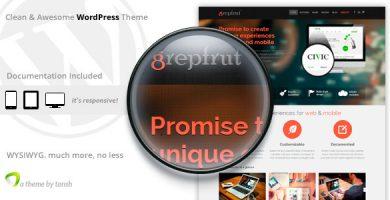 قالب Grepfrut - قالب وردپرس نرم افزار