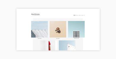Aina - قالب وردپرس نمونه کار و عکاسی مینیمال