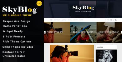 قالب SkyBlog - قالب وبلاگ وردپرس ریسپانسیو