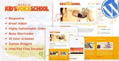 Kids Voice School - قالب وردپرس ریسپانسیو