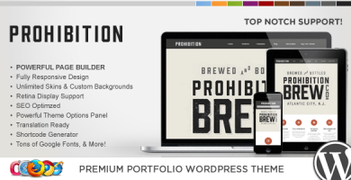 WP Prohibition - قالب وردپرس خلاقانه