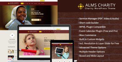 قالب Alms Charity - قالب وردپرس خیریه و وزارت