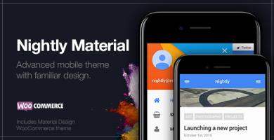 قالب Nightly Material - قالب موبایل برای وردپرس