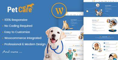 قالب Petcare - قالب سایت فروشگاه پت و سلامتی حیوانات خانگی