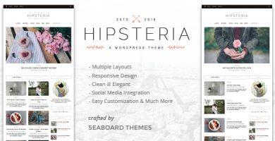 قالب Hipsteria - قالب وردپرس وبلاگی