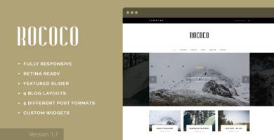 قالب Rococo - قالب وردپرس برای وبلاگ نویسان